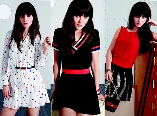 Zooey Deshanel for Tommy Hilfiger 2014